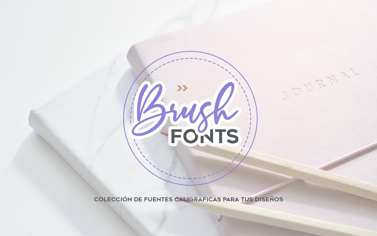 Las mejores fuentes estilo Brush para tu blog