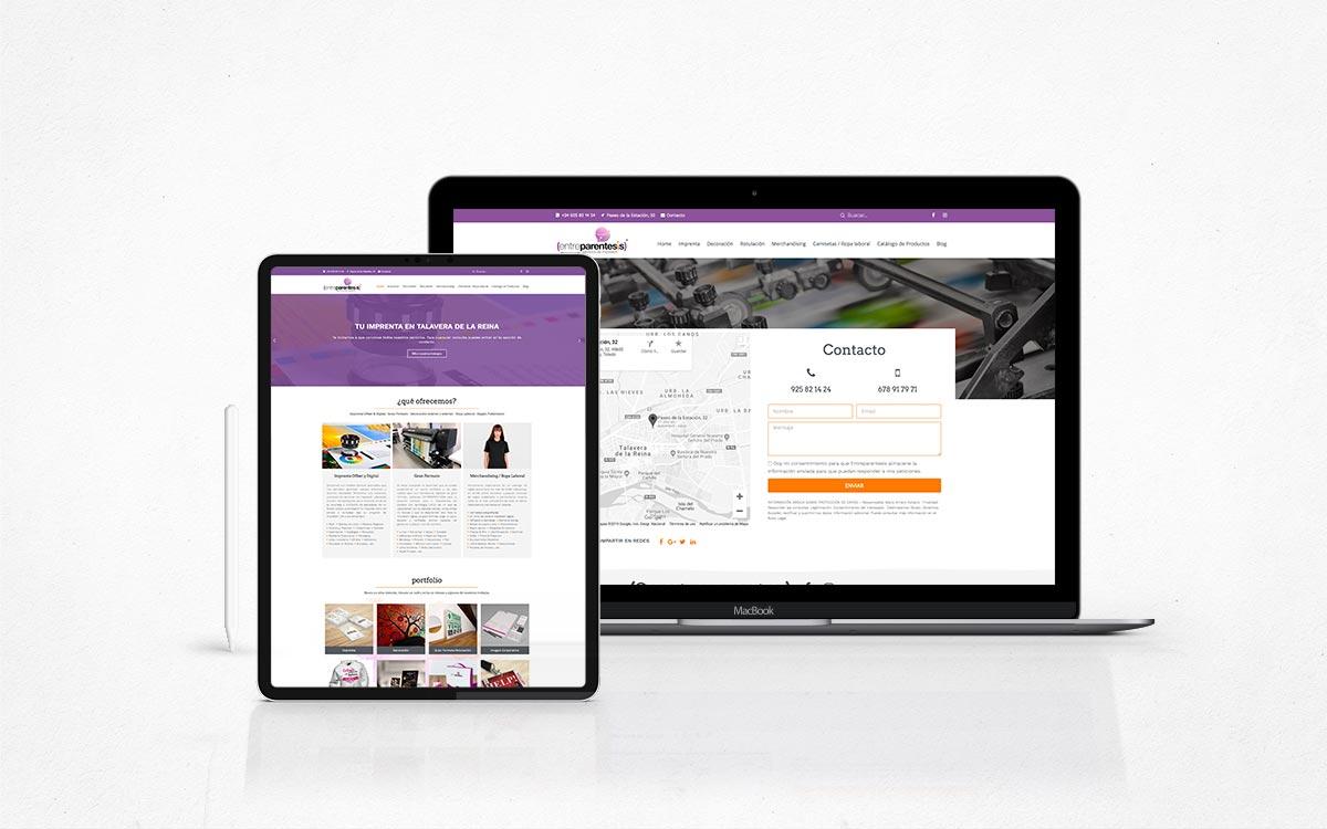 Diseño web para Entreparentesis