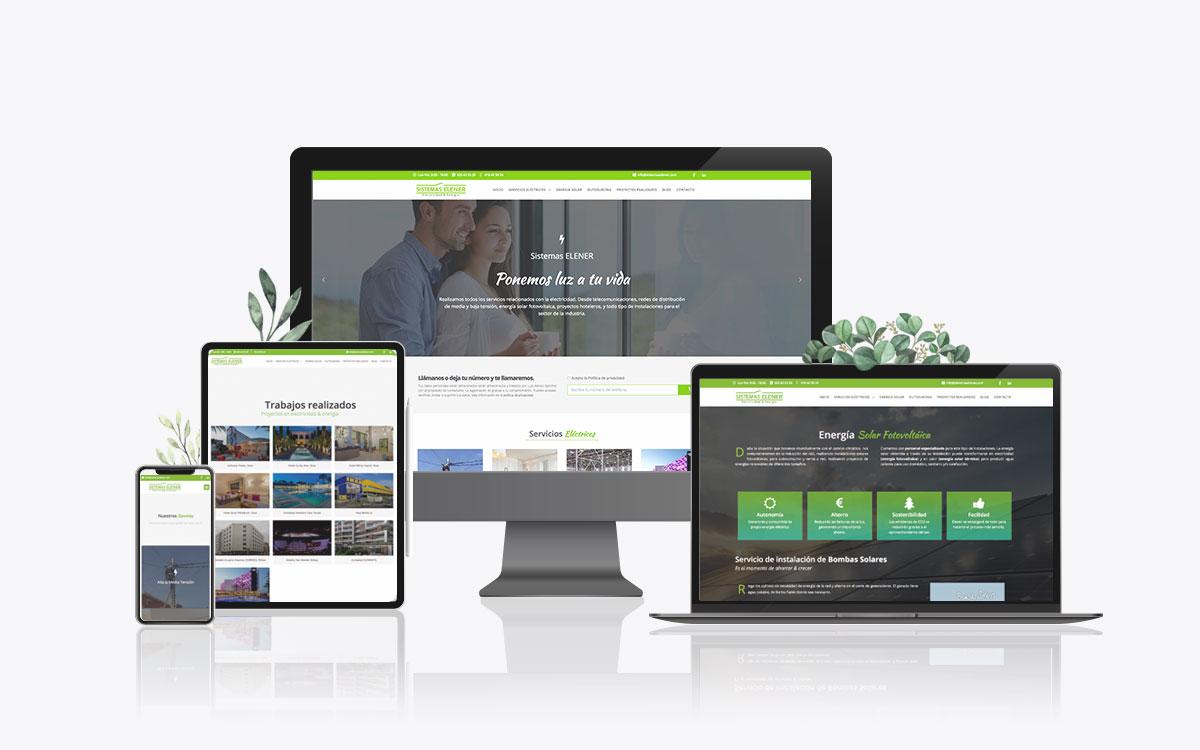 Diseño de web corporativa para Sistemas Elener